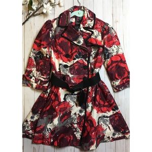 Forever 21 floral peacoat size Small